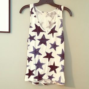 J.Crew EUC Navy Stars tank top-perfect for the 4th